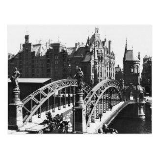 Brücke im Speicherstadt Hamburg, c.1910 Postkarte