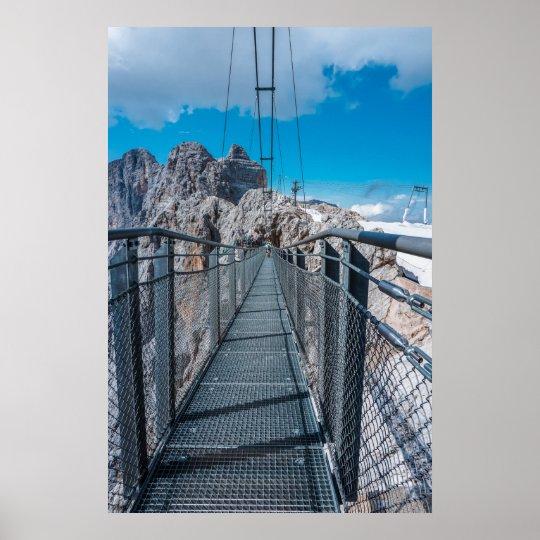 Brücke in den Alpen Poster