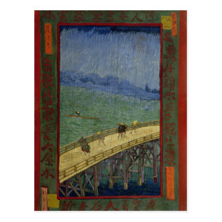 Brücke in der Regen-Postkarte