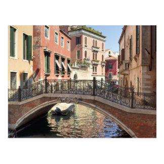 Brücke in Venedig-Kanal Postkarte