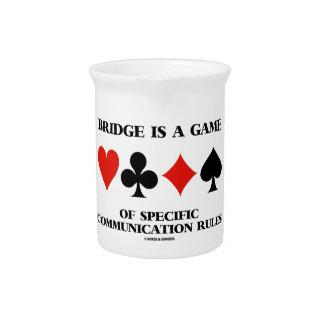 Brücke ist ein Spiel der spezifischen Getränke Pitcher