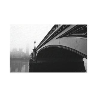Brücke Londons Westminster in der Leinwand des