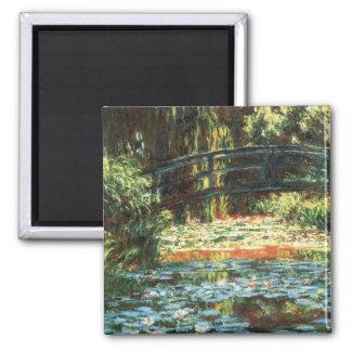Brücke über dem Wasserlilie-Teich durch Claude Quadratischer Magnet