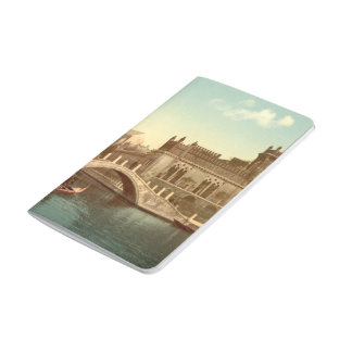 Brücke und Kanal, Venedig, Italien Taschennotizbuch