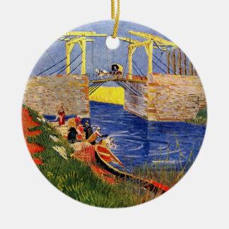 Brücke Van Gogh Langlois, Arles, Vintage feine Keramik Ornament