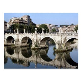 Brücke von Castel St. Angelo, Rom, Italien Postkarte