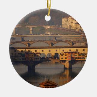 Brücke von Florenz, Italien Keramik Ornament