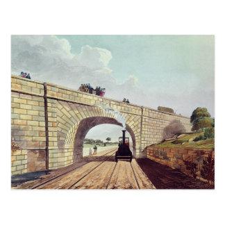 Brücke, 'von Liverpool und von Manchester Railway Postkarte