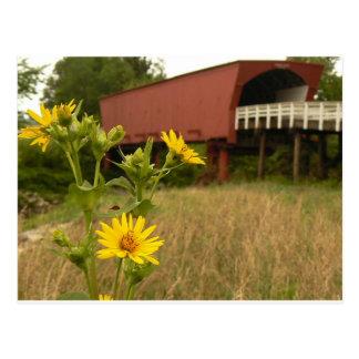 Brücke von Madison County Postkarte