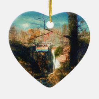 Brücke zum Paradies Keramik Herz-Ornament