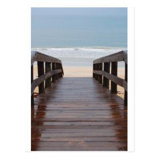 Brücke zum Strand Postkarte