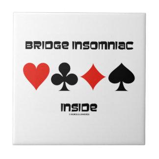 Brückeinsomniac-Innere (vier Karten-Anzüge) Fliese