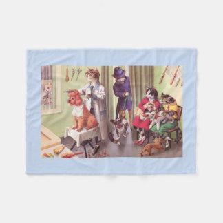 BRÜCKEN: Bulldogge an den Friseuren - Fleece-Decke Fleecedecke