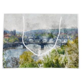 Brücken in Tschechischer Republik Prags Große Geschenktüte