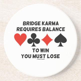 Brücken-Karma erfordert Balance, Sie zu gewinnen Sandstein Untersetzer