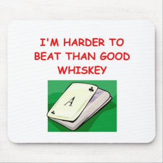 Brücken-Poker und Kartenspieler Mousepad
