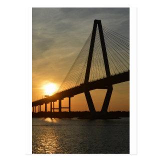 Brücken-Sonnenuntergang Charlestons Ravenel Postkarte