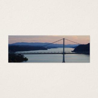 Brücken-Sonnenuntergang Geocache Mini-Visitenkarten