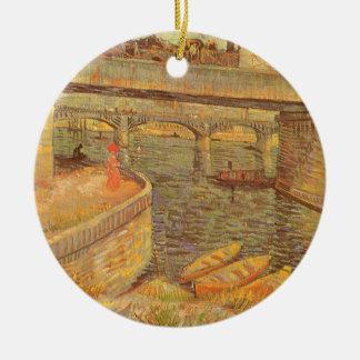 Brücken über der Seine durch Vincent van Gogh Keramik Ornament