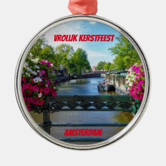 Brücken-Weihnachtsverzierung Amsterdams Silbernes Ornament