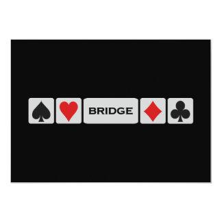Brückeneinladung - fertigen Sie besonders an! Ankündigungskarte