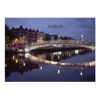 Brückennacht Irlands Dublin (St.K) Postkarte
