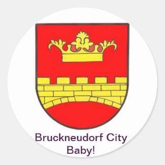 Bruckneudorf City Baby Runder Aufkleber