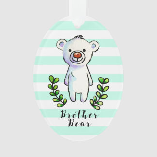 Bruder-Bärn-Tinte und Aquarell-Illustration Ornament