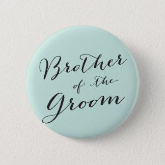 Bruder des Bräutigam-Hochzeits-Brautparty-Knopfes Runder Button 5,1 Cm