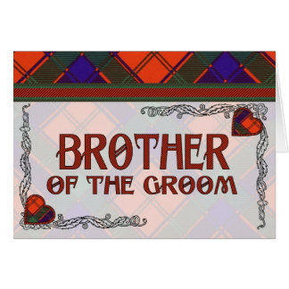Bruder des Bräutigams - EinladungRobertsonTartan Karte