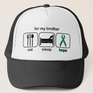 Bruder essen Schlaf-Hoffnung - Nieren-Krebs Truckerkappe