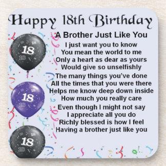 Bruder-Gedicht-18. Geburtstag Untersetzer