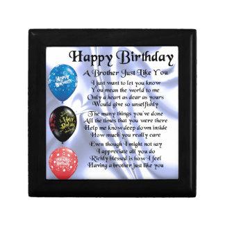 Bruder-Gedicht-alles Gute zum Geburtstag Geschenkbox