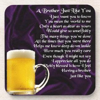 Bruder-Gedicht - Bier Untersetzer