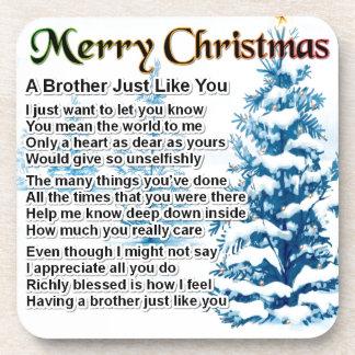Bruder-Gedicht - Weihnachtsentwurf Getränkeuntersetzer