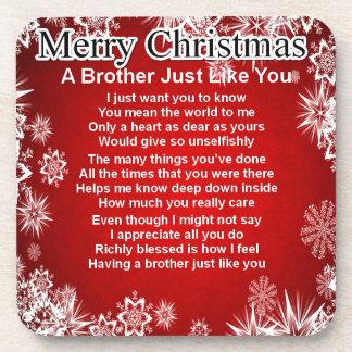 Bruder-Gedicht - Weihnachtsentwurf Untersetzer