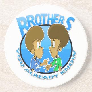 Brüder Getränkeuntersetzer