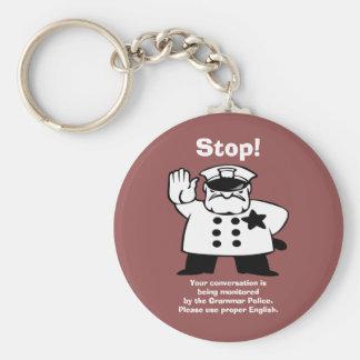 Bruder-Grammatik-Polizei Schlüsselanhänger