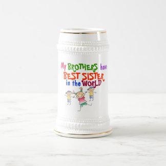 Brüder haben beste Schwester-Tasse Bierkrug