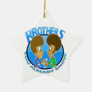Brüder Keramik Stern-Ornament