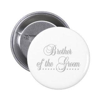 Bruder von Bräutigam-Grau-Eleganz Runder Button 5,1 Cm
