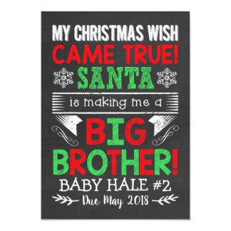 Bruder-Weihnachtsschwangerschafts-Mitteilung Karte
