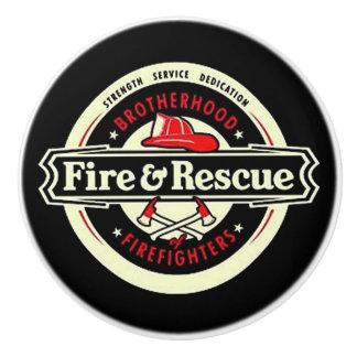 Bruderschafts-Feuerwehrmänner Keramikknauf