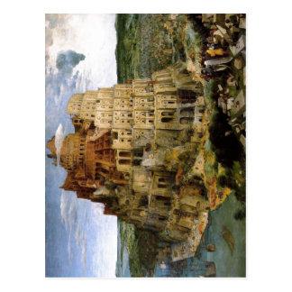Bruegel D.?. , Pieter Turmbau zu Babel-Turm des Postkarte