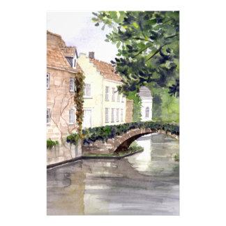 Brügge-Aquarell-Malerei von Farida Greenfield Briefpapier
