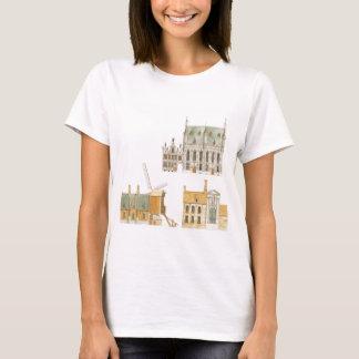Brügge Belgien. Rathaus und traditionelles T-Shirt