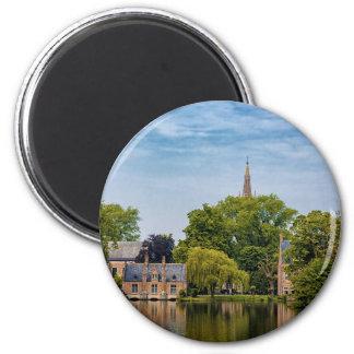 Brügge, Belgien Runder Magnet 5,1 Cm