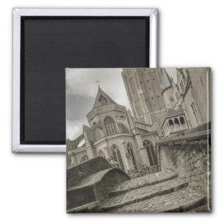 Brügge-Kirche unserer Dame Magnet Quadratischer Magnet