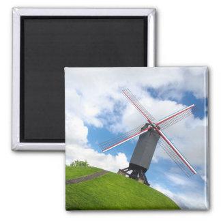 Brügge-Windmühlen-Magnet Quadratischer Magnet