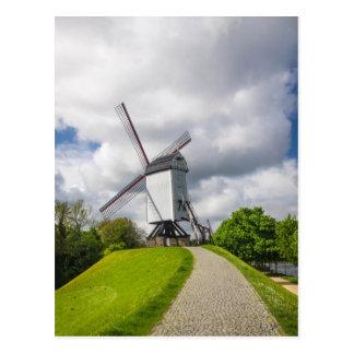 Brügge-Windmühlen-Postkarte Postkarte